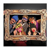 L & L® Photo Booth Large Picture Frame & 24PCS photo props Funny Faces Birthday Party