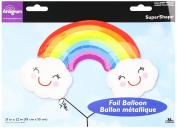 Burton & Burton Rainbow with Clouds Foil/Mylar Balloon, 90cm