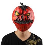 XIAO MO GU Novelty Halloween Horror Pumpkin Latex Head Mask Fancy Dress Masks
