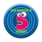 5th Birthday Badge 5 Today 58mm Pin Button Boys Girls Little Monster