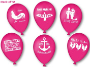 Hen Party Balloons - 12 x Funny, Rude, Naughty Balloons - Large 30cm Latex