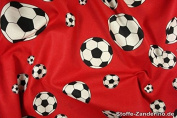 Print Football Red / Black / White, approx. 140 CM