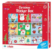 9 Rolls of Christmas Fun Stickers - Great Stocking Filler, Party Bag Filler or Favour