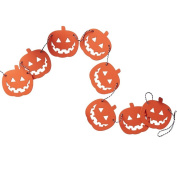 Ginger Ray Pumpkin Shaped Wooden Halloween Bunting Decoration - Pumpkin Party