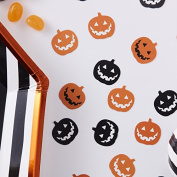 Ginger Ray Pumpkin Halloween Shape Party Orange And Black Table Confetti - Pumpkin Party
