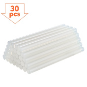 TopElek 30Pcs Hot Melt Glue Sticks, 11mm Diameter, 150mm Length, for DIY Crafting and Repairs