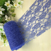 niceEshop(TM) Floral Lace Ribbon, 15cm X 24 Yards Vintage Lace Roll Netting Fabric Tulle Roll for Tutu Skirt Fabric Table Cards Runner Chair Sash DIY Wedding Party Bridal Shower Baby Shower Decorations Gift Bow Craft