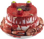 Halloween Gory Gourmet Bloody Horror Creepy Latex Zombie Cake With Moving Eyes Party Decoration Prop