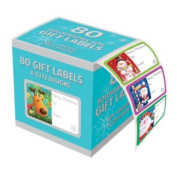 Pack of 80 Holographic Adhesive Labels - Christmas Gift Wrapping Decoration