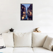 """CHshe 5D DIY Diamond Painting, """"Art Is Our Soul, Daybreak of Venice"""" Rhinestone Pasted Home Decor Embroidery Cross Stitch in Fashion"""