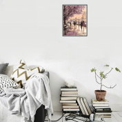 """CHshe 5D DIY Diamond Painting, """"Art Is Our Soul, Snuggle up to Whom We Love under Streetlight """" Rhinestone Pasted Home Decor Embroidery Cross Stitch in Fashion"""