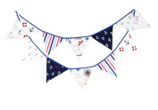 Birthday Party Decorations Bunting Flag Fabric Vintage Baby Boys Girls Birthday Festival For Outside Garden Indoor Home Bedroom