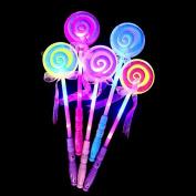 LanLan Party Decor LED Light Up Lollipop Glow Stick Girls Flashing Fairy Wand Kids Toy