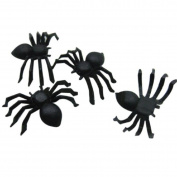 Brydon 20 PC Halloween Plastic Black Spider Funning Toys Decoration Realistic