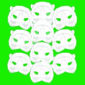 10 Plain Card Lion Face Masks - Colour in Create Your Own Design