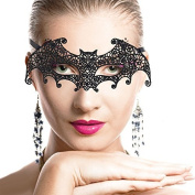 Sexy Attractive Black Lace Eye Mask for Halloween Party Masquerade Ball Fancy Dress Costume Portrait Photography Bat Style