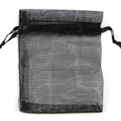 Black Organza Gift Pouches Bags Jewellery Wedding Favour Bag Decor Candy Sheer Pouches 8x10cm