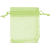 250cm X 7.6cm *10cm Organza Green Gift Bags Jewellery Storage Pouches Party Mesh Drawstring Gift Bags