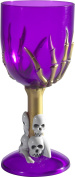 Smiffy's 48321 Gothic Wine Glass, Purple, One Size