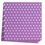 Neviti 678115 Carnival Napkin, Dots Purple