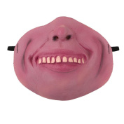 Janly® Horror Pig Head Half Face Mask Animal Latex Party Mask Halloween Dance Party Costume New Year XMAS Masks Theatre Toys Fancy Dress Festival