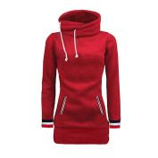 Bluester Womens Plain Hoodie Top, Ladies Hooded Sweat Shirt Jacket Coat Sweater