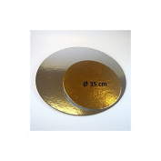 FunCakes Cake boards silver/gold ROUND 35cm, per 3.