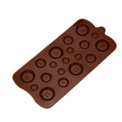 squarex Exquisite 3D Buttons Silicone Fondant Mould Chocolate Sugarcraft Cake Mould Baking Tool DIY