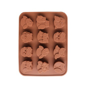 squarex Exquisite 12 Owls Silicone Cake Bread Chocolate Jelly Candy Baking Mould Craft Cake Mould