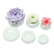 TIREOW 3D Buttons And 6pcs Cake Flower Shape Drying Mould Tool