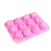 TIREOW Silicone 3D Semi-circular Cake DIY Mould Tools for Cake Soap Jelly Pudding Chocolate