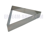 Triangular Cake Ring 24 x 4 (H) cm. Professional Stainless Steel