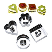 4x Da.Wa Stainless Steel DIY Small Mousse Ring Lamy Cheese Cake Mould Food Mould Tools