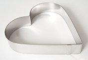 Professional Cake Ring Heart 24 cm Height 4 cm, stainless steel