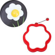 Sansee New 4pcs Silicone Flower Shaped Egg Mould Rings Cooking Stencils Pancake Mould
