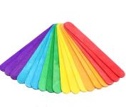 Youkara Wood Craft Coloured Stick Ice Sticks for DIY Crafts Creative Designs 50 PCS, 11cm * 1cm