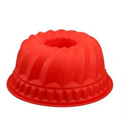 JinZhiCheng Silicone Round Mould Cake Baking Mould - Red