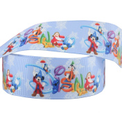 2m x 22mm BLUE ALL THE DISNEY CHARACTERS GROSGRAIN RIBBON FOR CAKE'S BIRTHDAY CAKES GIFT WRAP WRAPPING RIBBON HAIR BOWS CARDS CRAFT SHOELACES