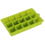 Zantec Silicone Ice Cube Tray Moulds Desert Cocktail Juice Maker Square Mould DIY Tools 15 Grid -40 ¡æ to 230 ¡æ Green