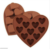 asentechuk® Lovely Heart Shape Silicone Cake Mould DIY Chocolate Soap Moulds Sugar Craft Cake Decorating Tools Form for Cakes