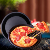 squarex_Merry Christmas Exquisite Round Pizza Pan Tray Carbon Steel Non-Stick Oven Pizza Plate Pan
