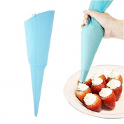 Honeysuck Disposable Cake Icing Cream Piping Decorating Tool Cream Pastry Bag - Light Blue