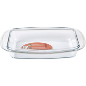 Promobo Kitchen Rectangular Baking Dish with Handle Glass 37 cm