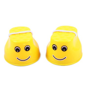 ZHOUBA 1Pair Kids Children Mini Physical Training Plastic Balance Toy Walking Jumping Stilts - Yellow