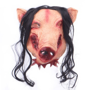 Scary Masks Halloween Mask for Adults Kids, Pig Mask Cosplay Party Costume Fancy Dress Rubber for Theme Parties, Family Gatherings, Halloween, Clothing Parties