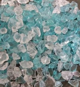 500g Glass Chippings TURQUOISE SPARKLE - approximately 4-10mm