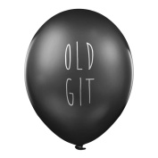 "Rude Balloons – ""Old Git"" x 5 - Abusive birthday party balloons for him"