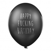 Rude Balloons – Happy F*cking Birthday x 5 - Abusive birthday party balloons