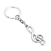 Gemini_mall® Musical Note Charm Keyring Keychain Key Chain Key Holder Funny & Creative Gift