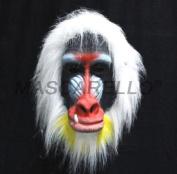 MASCARELLO® Madagascar Baboon Mask Latex Adult Size Monkey Jungle Ape Animal Mask Cosplay